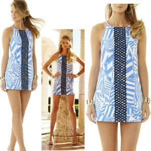 Annabelle Bay Blue Yacht Sea Rope Lace Shift Dress